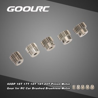 GoolRC 48DP 3.175mm 16T 17T 18T 19T 20T Pinion Motor Gear for 1/10 RC Car Brushed Brushless Motor - intl Price Philippines