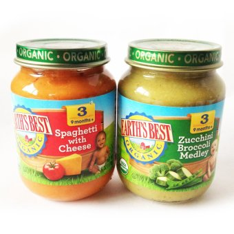 Earth's Best Organic Baby Food Pack of 2 (Spaghetti with Cheese/ Zucchini Broccoli Medley) Price Philippines