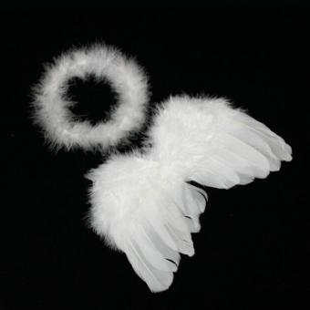 LALANG Baby Newborn Costume Feather Fairy Angel Wings Photo Props White - intl Price Philippines