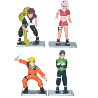 Harga Naruto, Gaara, Sasuke Mini Figure 4pcs/Set Mini Figures Loose