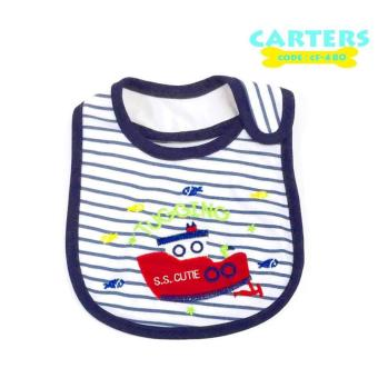 Harga New 2017 BEST STORE BABY SHOP Carter's Bow Suit Baby Feeding Bib 480 (White)