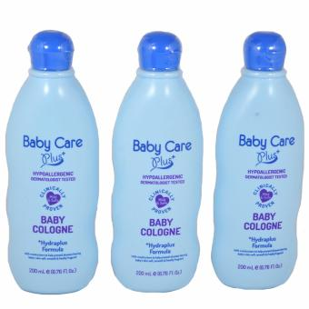 Baby Care Plus Blue Baby Cologne Set of 3 200mL Price Philippines