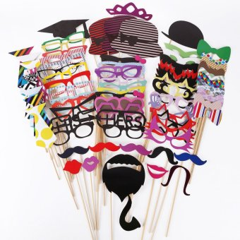76PCS DIY Mask Photo Booth Props Mustache On A Stick Wedding Birthday Party Price Philippines