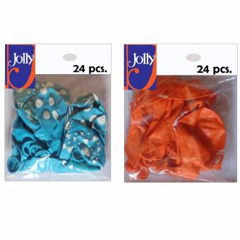 Harga Happy Birthday Balloons 24`s Sky Blue & 24`s Orange