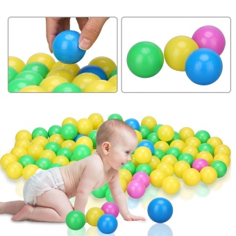 Harga 100pcs/set Plastic Colorful Kids Secure Ocean Balls Baby Pits Swim Toys 4cm - intl