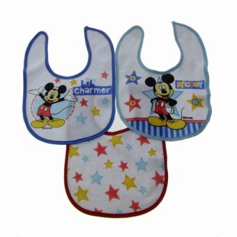 Harga Disney Baby Bibs - Pack of 3 (Mickey Mouse Lil' Charmer)