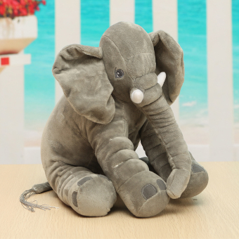 Soft Plush Lovely Long Nose Elephant Doll Sleep Pillow Baby Kids Lumbar Cushion - intl Price Philippines