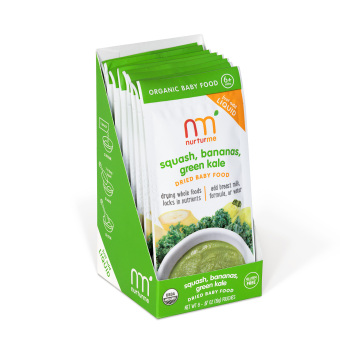 Nurturme Squash, Bananas, and Green Kale Organic Dry Meal, 19g (White) Price Philippines