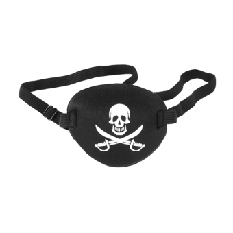 Harga Pirate Skull Crossbone Children Kids Eye Patch Eye Mask for Lazy Eye (Black)