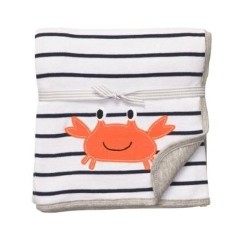 Harga Carter's 2-Ply Cuddle Me Blanket (Striped Crab)