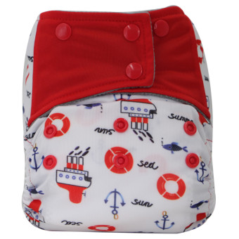 Asenappy Charcoal Bamboo Reusable All-In-One Steamboat Cloth Diaper Sewn Insert Price Philippines