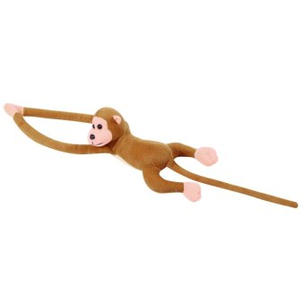 60cm Hanging Monkey Long Arm Plush Baby Toys Coffee - INTL Price Philippines
