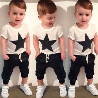Kids Baby Boys Star T-shirt Tops Harem Pants Trousers Outfits Set Clothes Price Philippines