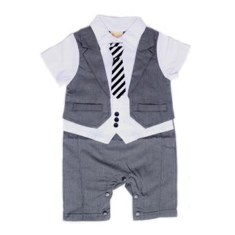 Harga Gentlemen Suit Romper Grey for 6 to 9 Months Old