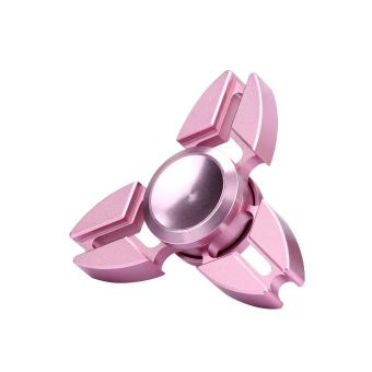 Tri Fidget Hand Spinner Triangle Alloy Finger Toy EDC Focus ADHD Autism (Rose) Price Philippines