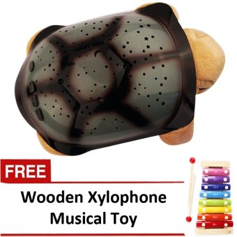 Plush Twilight Turtle Night Light (Brown) with FREE Wooden Xylophone Musical Toy Price Philippines