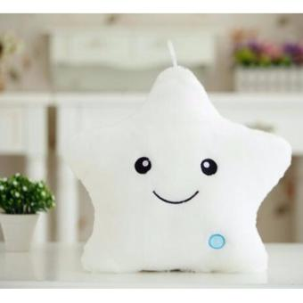 LED colorful lights *WHITE star pillow baby stuffed plush toys Price Philippines