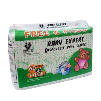 Harga Shuta S-1181 Baby Expert Disposable Diaper 60's + Free 6's (Medium)