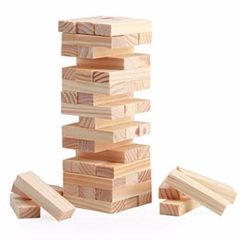 Wood Block Mini Tower Game 48 pcs Price Philippines