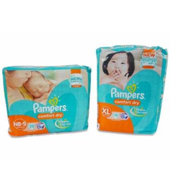 Pampers Comfort (S) 28's, Pampers Comfort (XL) 18's 720236 Price Philippines