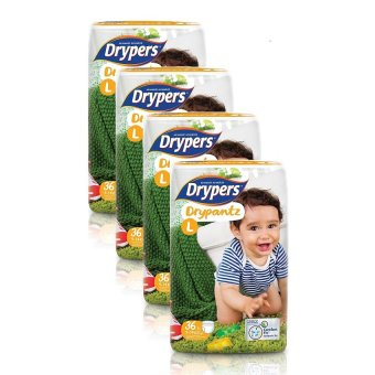 Harga Drypers DryPantz Diaper Large 36's Pack of 4