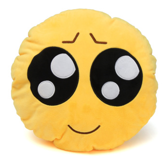Yellow Round Cushion Soft Emoji Smiley Emoticon Stuffed Plush Toy Doll Pillow - Intl Price Philippines