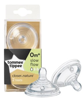Harga Tommee Tippee Slow Flow Bottle Teat (Clear)