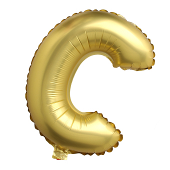 Letter C Gold Big Foil Balloon Inflated Ball Wedding Party Supplies 40 Inch - intl Price Philippines