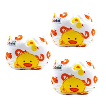 Harga Baby Steps Three Little Ducks Cloth Baby Diapers (Yellow)