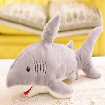 1X 70cm Cute Shark Shaped Plush Toy Pillow Back Cushion Doll Gift Animal Bolster - intl Price Philippines