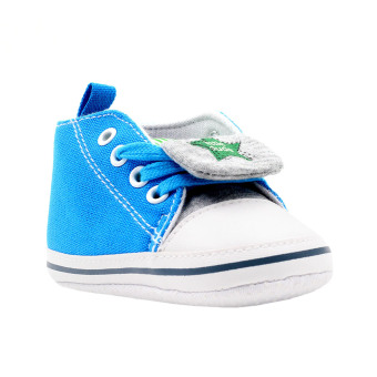 BABY STEPS Little Dude Star Baby Boy Shoes (Blue) Price Philippines
