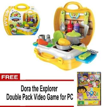 Dream The Suitcase Kitchen Cooking Play Set No.8312 w/FREE Dora the Explorer Double pack Video Game for PC Price Philippines