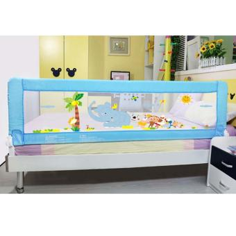 Harga Fortress Baby Safety Bed Rail Blue Elephant Design (1.5M EMBEDDED)