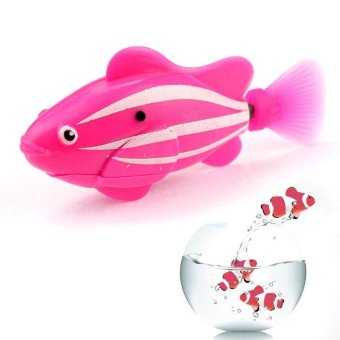 Harga Popular Robo Fish / Electric Pet Fish Toy Gifts for Kids Children Pink - intl