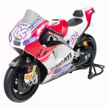Harga NewRay 1:12 Die-cast Ducati Desmosedici (Andrea Dovisioso)MotorcycleWhite Color Model Collection Christmas New Gift(White) - intl