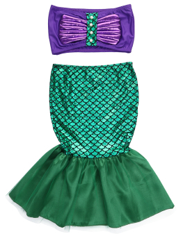 Harga Baby Girls Little Mermaid Costume Dress Swimwear Swimsuit Set - intl