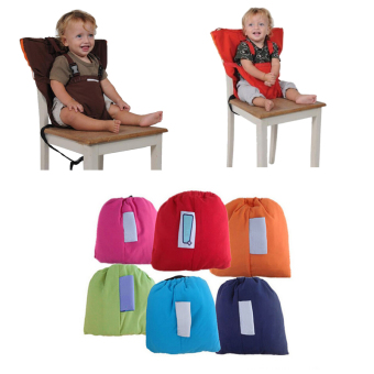 Harga Baby Seat Children Travel Safety Belt Chair Cover -COFFEE - Intl
