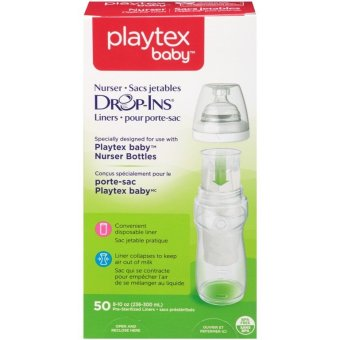 Harga Playtex Nurser Bottles Drop-Ins Liners 8-10oz 50ct