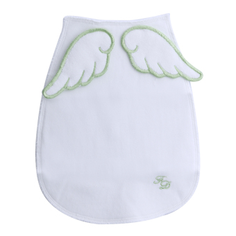 Baby Angel Wings Sweat Fabric Towel Without Fluorescent Agent (Green) - intl Price Philippines