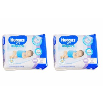 Harga Huggies Dry Diapers NB 20's Pieces 021287 2's