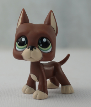 Brown Great Dane Dog Puppy Girl toys Littlest Pet Shop LPS #1519 Green Eyes - Intl Price Philippines