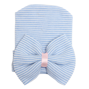 Cuteborn Baby Infant Girl Toddler Comfy Bowknot Hospital Cap Beanie Hat Blue Price Philippines