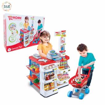 Harga D&D Plastic ABS Simulation Cash Register Toys Home Supermarket Shopping Channel for Kids House Game Playsets