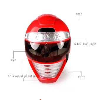 LED Mask Light up Power Rangers Mask Unique Kids Dress up Role Play Cosplay Costume Pretend Play Power Rangers Red Power Ranger Universal Size - intl Price Philippines