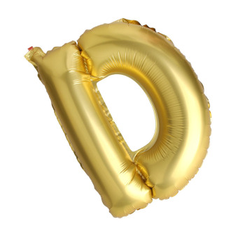 Letter D Gold Big Foil Balloon Inflated Ball Wedding Party Supplies 40 Inch - intl Price Philippines