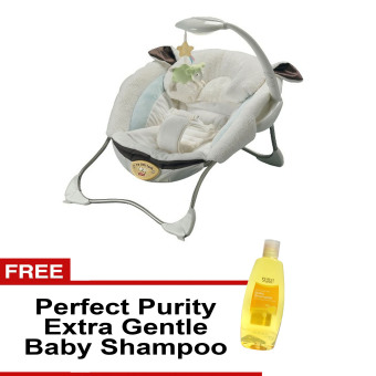 Harga Fisher-Price Infant to Toddler My Little Lamb Infant Rocker Set with Free Perfect Purity Extra Gentle Baby Shampoo