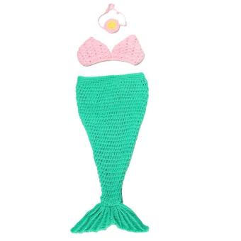Harga Eozy Knitted Photography Props Mermaid Style Crochet Costume Baby Infant Clothing For Taking Photos