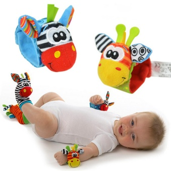 4 Pcs(1 SET) New Baby Infant Foot Socks Rattles Wrist Rattles Multicolor - intl Price Philippines
