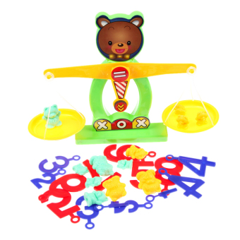 Balance Beam Scale Measuring w Bear Weights Numbers Preschool Kids Toy - Intl Price Philippines