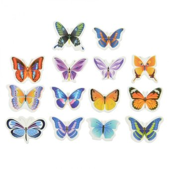 Butterflies Prime Wedding Birthday Edible Rice Wafer Paper Toppers 50Pcs - intl Price Philippines